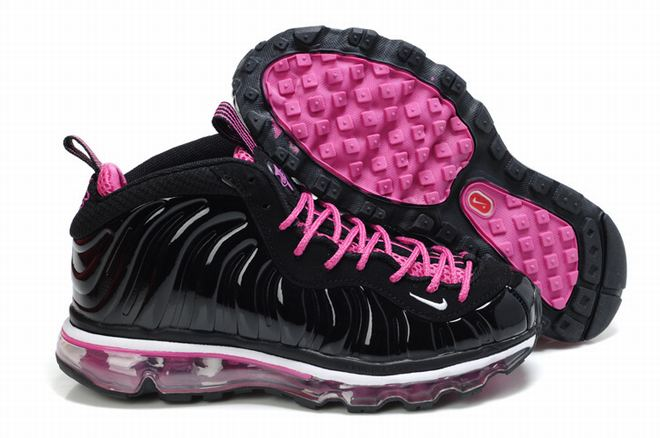 nike foamposite one max pink black women shoes