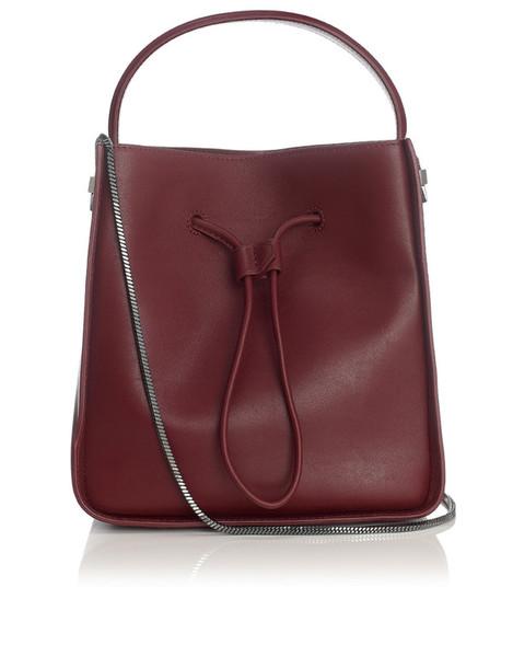 drawstring bag burgundy red