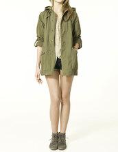 hood,parka,hooded parker,khaki,green,olive green,coat,jacket,barbour,size 2,camouflage