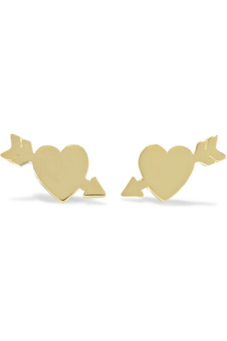 heart earrings stud earrings gold jewels