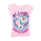 frozen shirt,frozen gear,i love warm hugs shirt,t-shirt,frozen,olaf happy snowman bff shirts,olaf,girls t-shirt
