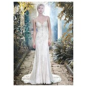 dress,sheath wedding dress,tulle skirt,straps,glamorous embroidered off the shoulder dress,spaghetti strap