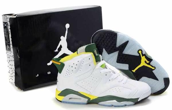 shoes jordans white green yellow