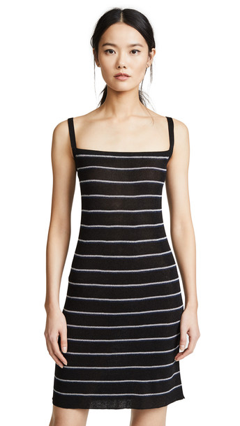 Sonia Rykiel Striped Ribbed Mini Dress in multi
