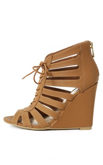 03 caged gladiator wedges