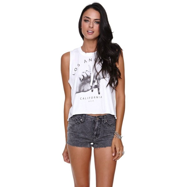 Brandy melville la hands music tee