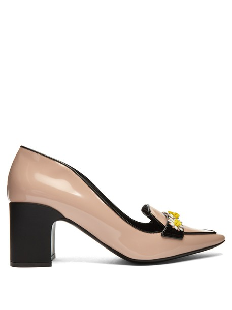 Fabrizio Viti pumps leather nude black shoes