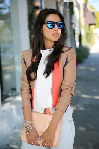 jacket peach mocha leather jacket