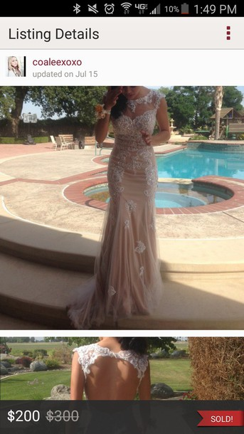 dress wedding dress prom dress nude dress beaded dress dress prom gown gems gemstone gorgeous dress dream dress