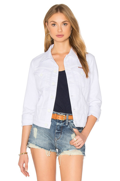 Hudson Jeans jacket denim jacket denim white