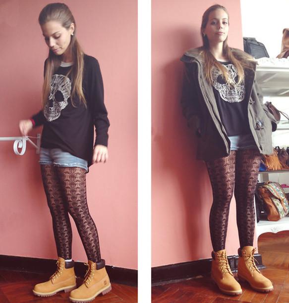 Underwear Timberlands Lace Leggings Mesh Shorts Longsleeve Shirt Jacket Cute - Wheretoget