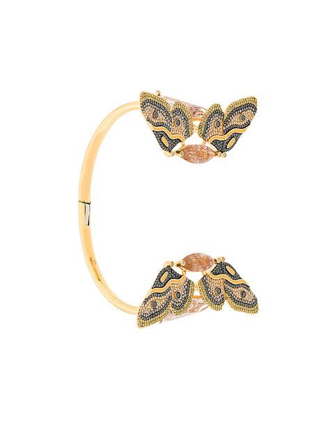 Astley Clarke cuff women gold grey metallic jewels