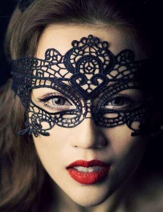 hair accessories black mask crochet mask face mask black crochet www.ustrendy.com mask