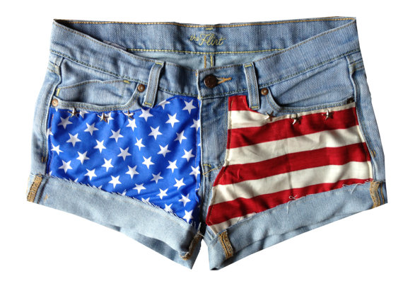 Custom American Flag Shorts any size by ToDyeForGlam on Etsy