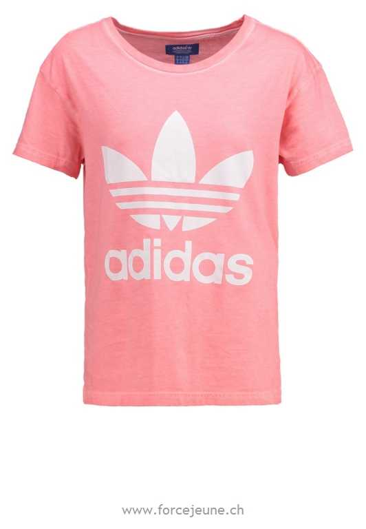 adidas Originals Print T-shirt - peach pink - Print T-shirt peach pink tops/t-shirts - AD121D0B6-J11 : skirts,sports clothing,swimwear,tights,tops,t-shirts,trousers,leggings