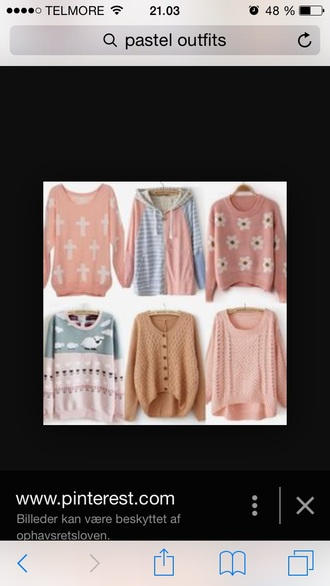 sweater knit pastel romantic korean fashion