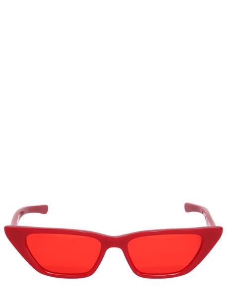 AMBUSH Molly Acetate Squared Cat-eye Sunglasses in red