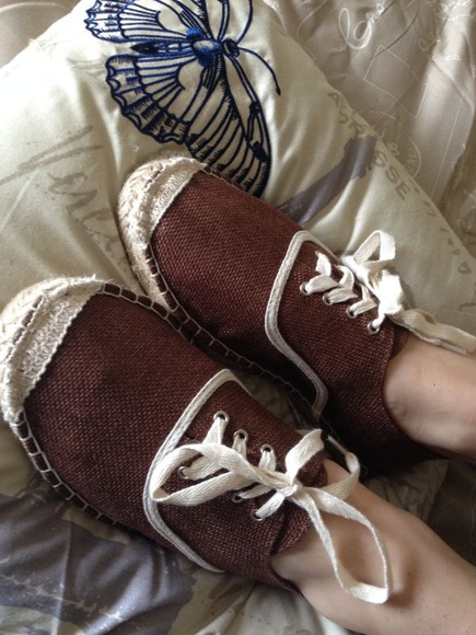 butterfly shoes bamboo shoes women shoes fashion brown shoes linen
