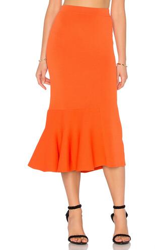 skirt knit orange