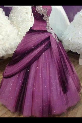 dress purple dress sparkly dress