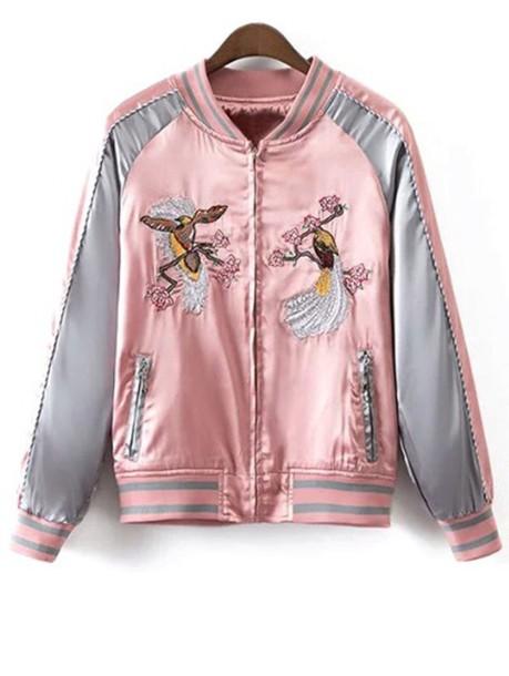 jacket satin bomber bomber jacket