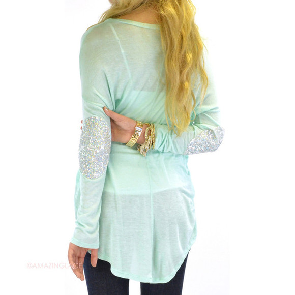gold cute glitter sparkle shirt summer mint shirt mint summer outfits dress, vintage, floral, summer, mint, indie, hippie, hipster, mint green skirt