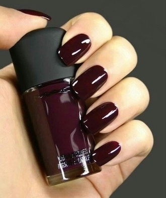 nail polish maroon nail polish burgundy mac cosmetics grunge wishlist