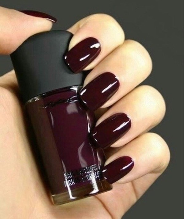 nail polish, maroon nail polish, burgundy, mac cosmetics, grunge ...