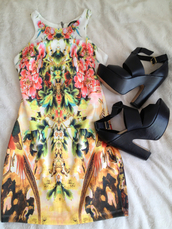 dress,flowerd,shoes,clothes,high heels,black heels,colorful dress,black  high heels,print,tribal pattern,floral,classy,black,heels,platform shoes,cute,glitter dress,black high heels,mini dress,sandal heels,hight heels,sandals,sneakers,straps,multi colored print,red,pink,green,gold,tank top,colorful,plateau,plateau shoes,printed dress,graphic tee,graphic dress,graphic design,bodycon,bodycon dress,chic,summer dress,spring,sleeveless,tropical,tropical dress,celebrity style,fashion,outfit,floral dress,long,short,court,sexy,summer,sun,beautiful,colored,yellow,flowers,flowy,cute dress,classy dress