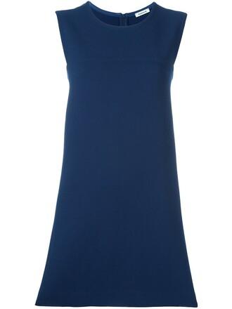 dress women spandex blue wool