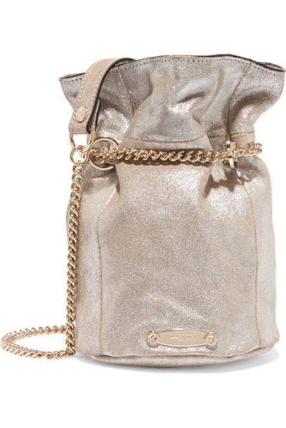 Lanvin - Aumoniere Metallic Textured-leather Bucket Bag - Silver