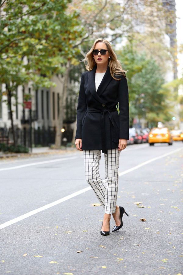 the classy cubicle sweater pants coat shoes jewels sunglasses