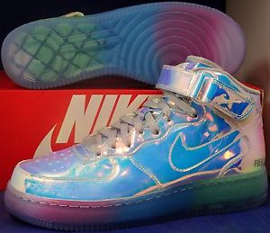 info for bdb1f e6011 Nike Air Force 1 Mid Premium Iridescent iD SZ 8.5 ( 779425-991 )