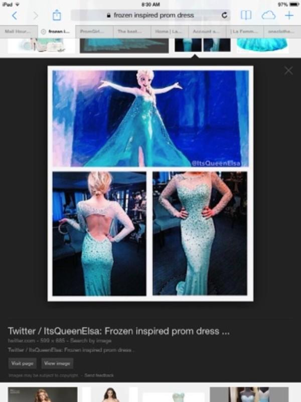 dress frozen elsa gown long sleeveless