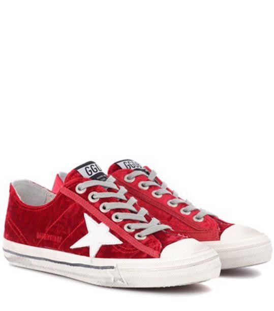 GOLDEN GOOSE DELUXE BRAND sneakers velvet red shoes