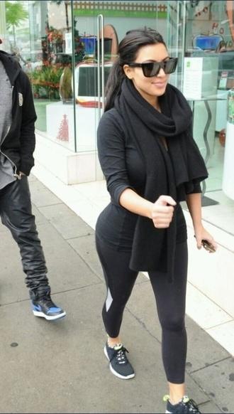 scarf black long kim kardashian thick pretty