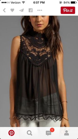 top black top lace top