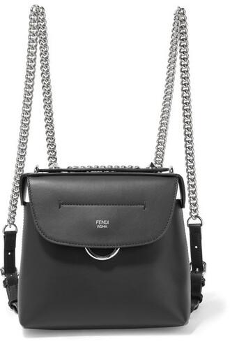 mini back backpack leather backpack leather black bag