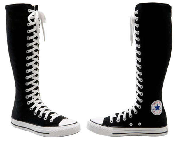 shoes converse converse black shoes chuck taylor all stars all star high boots