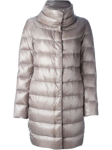 Herno coat women nude cotton