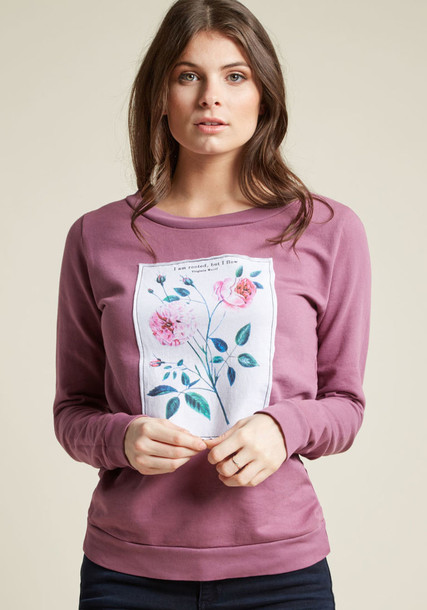 Modcloth pullover floral sweater