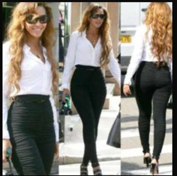 Jeans Black Black Jeans Beyonce Blouse White White