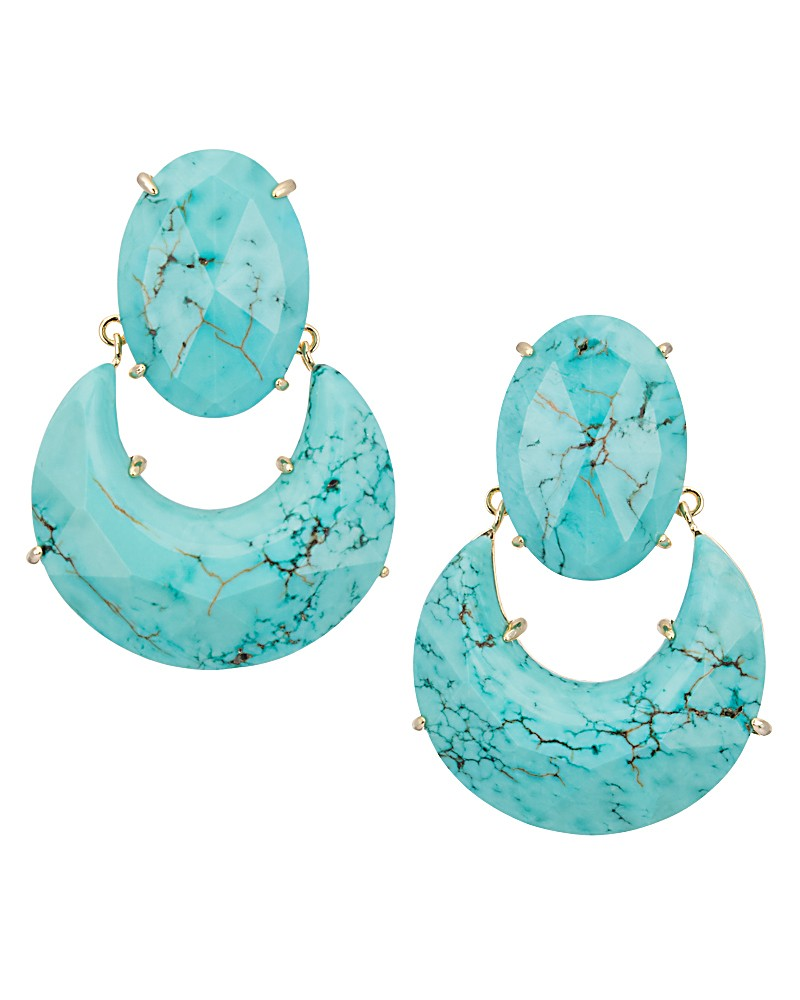 Juliette Statement Earrings in Turquoise - Kendra Scott Jewelry