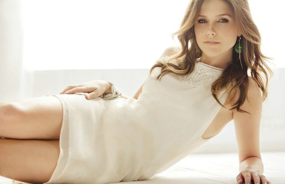 sophia bush white dress lace dress