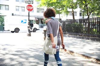 trop rouge blogger top jeans shoes bag sunglasses