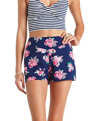 Waisted shorts: charlotte russe