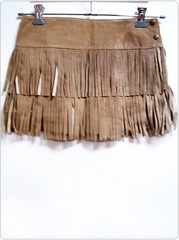 Rakuten: leather fringe skirt [brown] clothes /