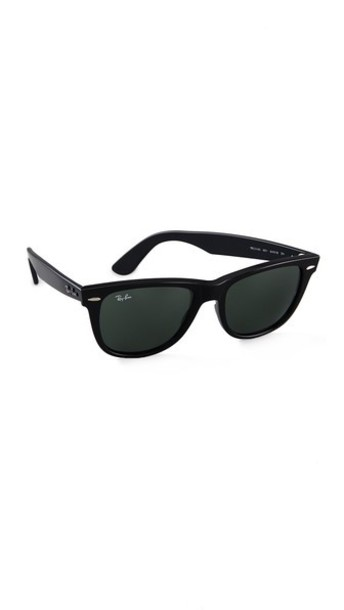 Ray-Ban Outsiders Oversized Wayfarer Sunglasses - Black/Green