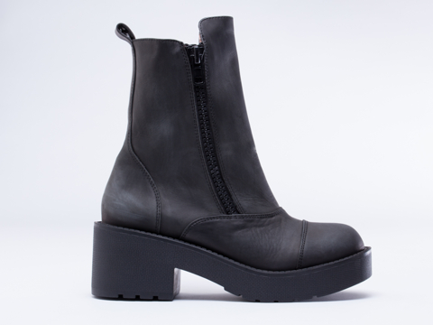 Jeffrey Campbell Ward in Black Distressed at Solestruck.com
