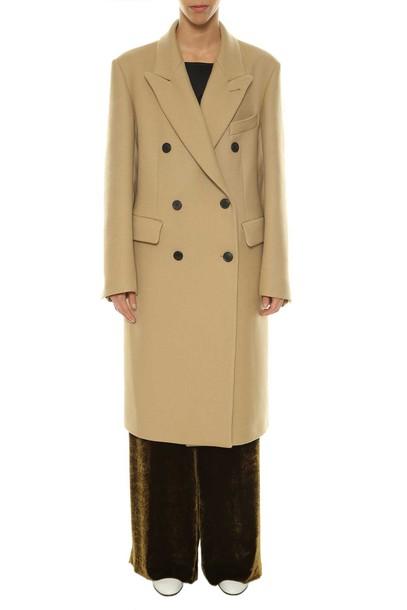 dries van noten coat double breasted beige